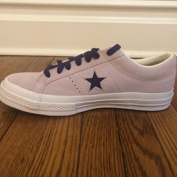New! Converse 7.5M Light Purple Suede One Star